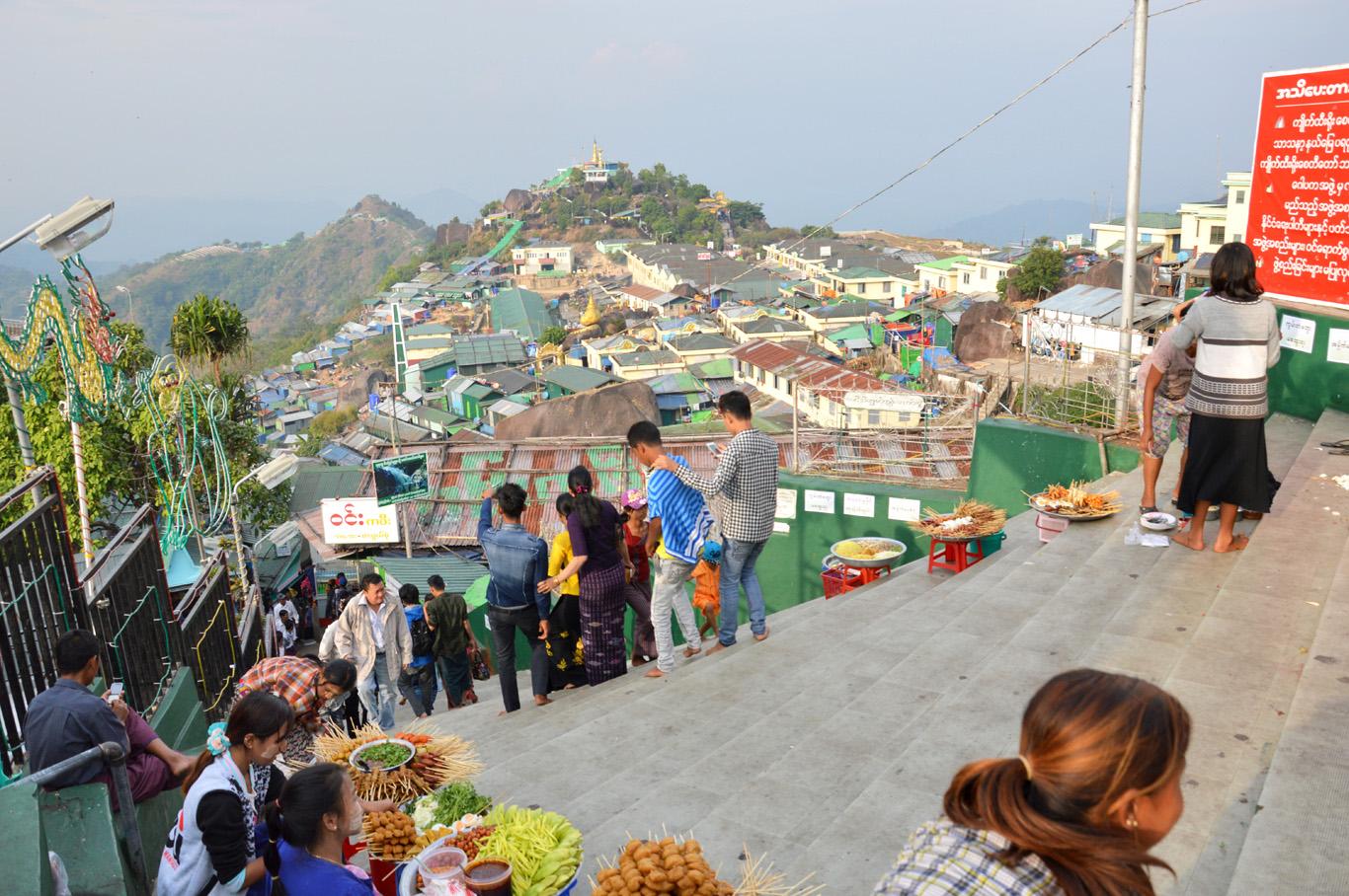 The settlement on the Mount Kyaiktiyo