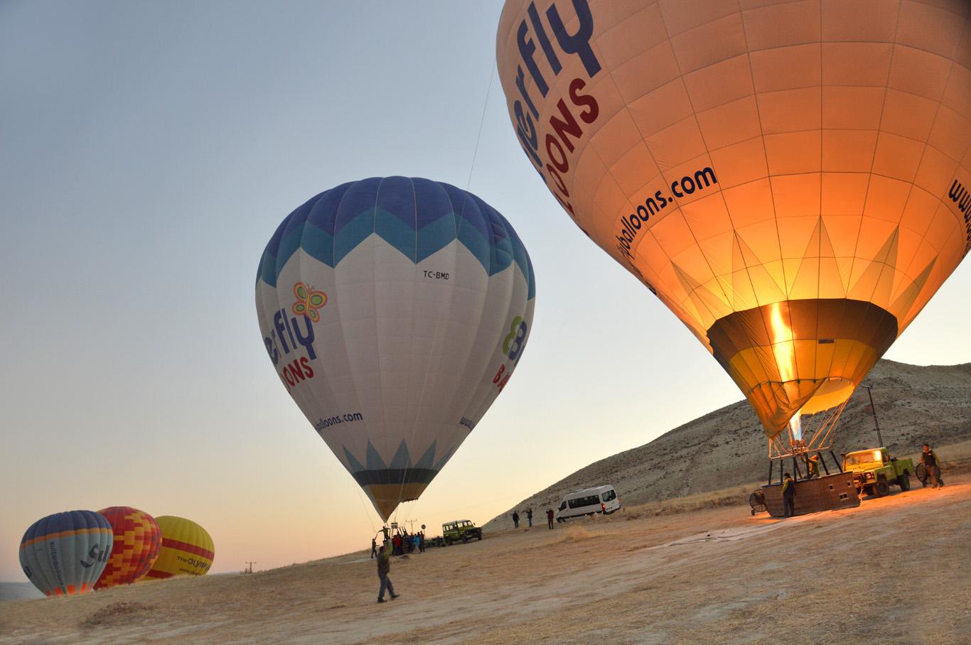 Balloons ready to take off