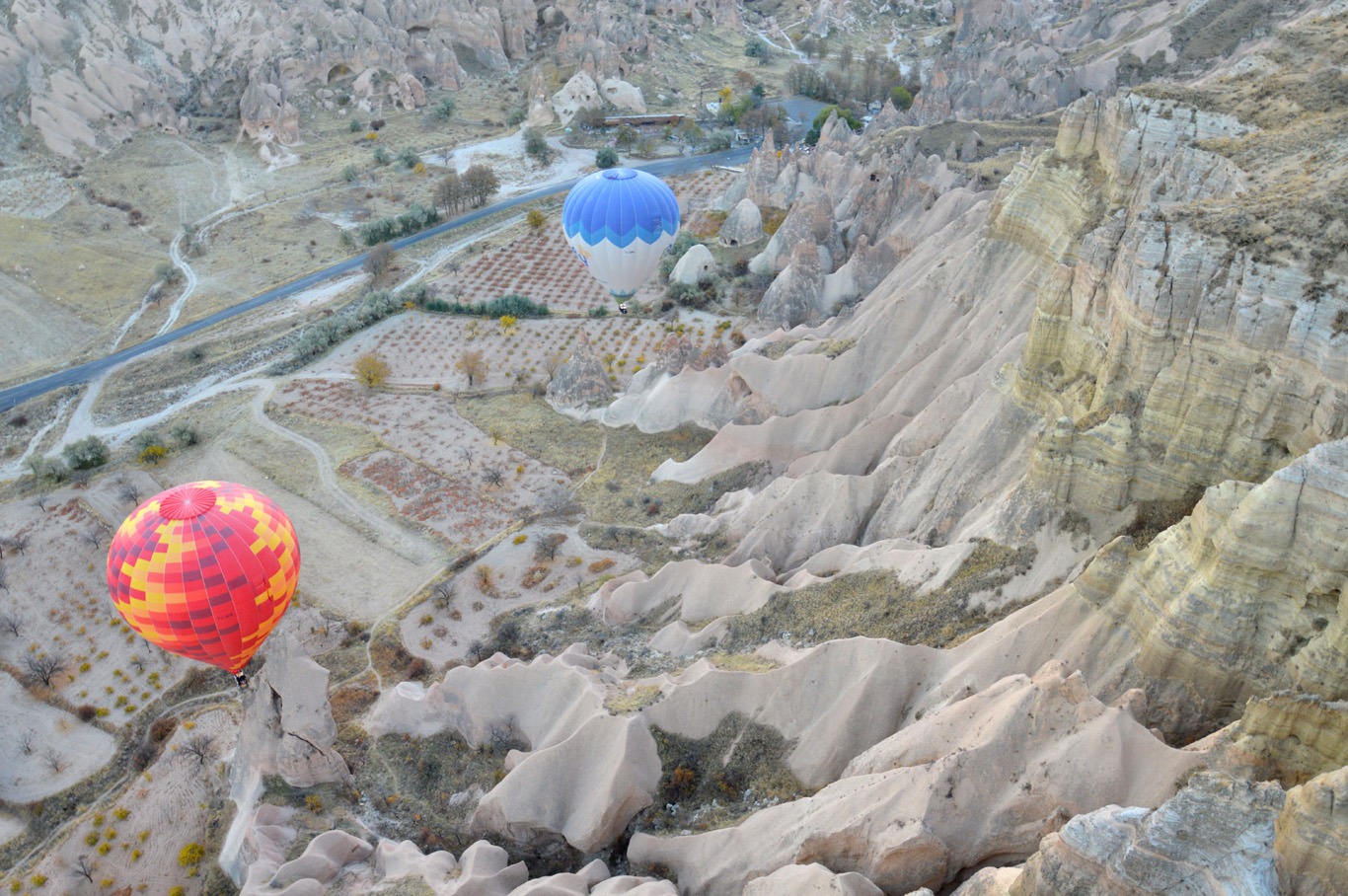 Balloons seen from up above