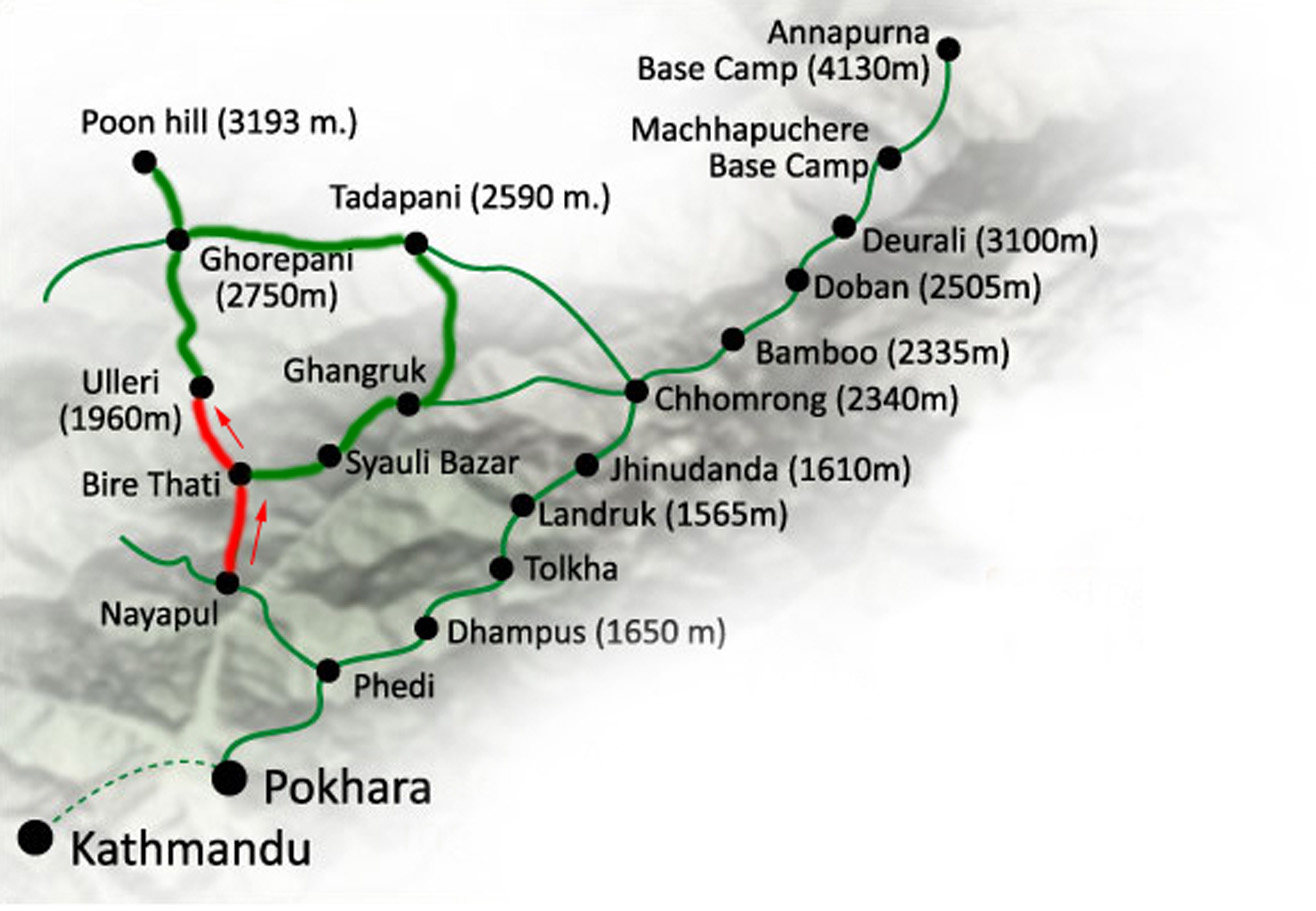 Detailed map of the trail