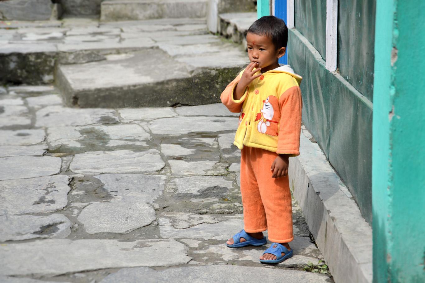A child in Birethanti