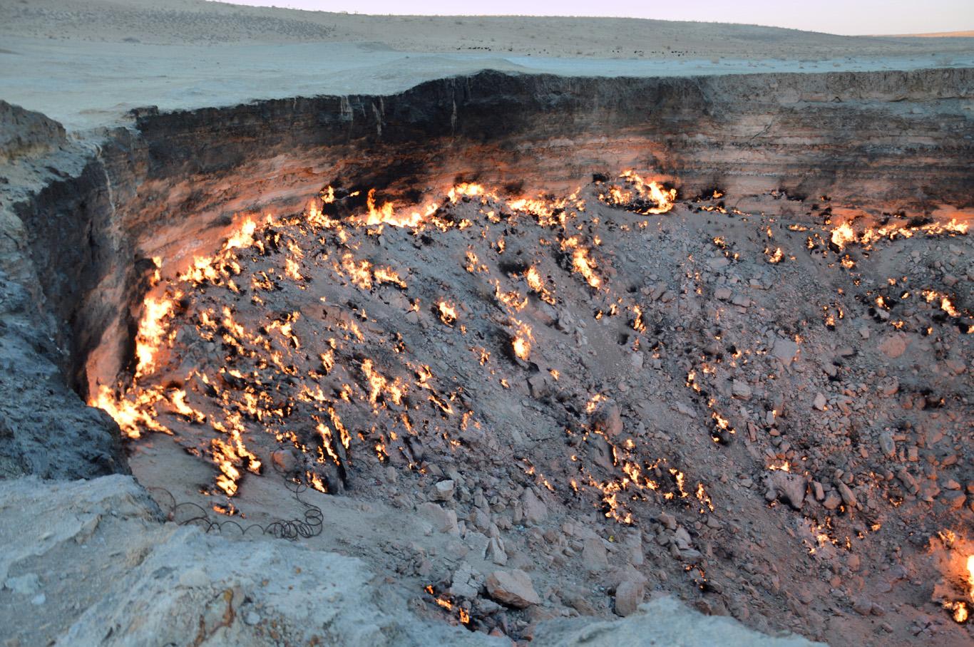 Door to hell crater