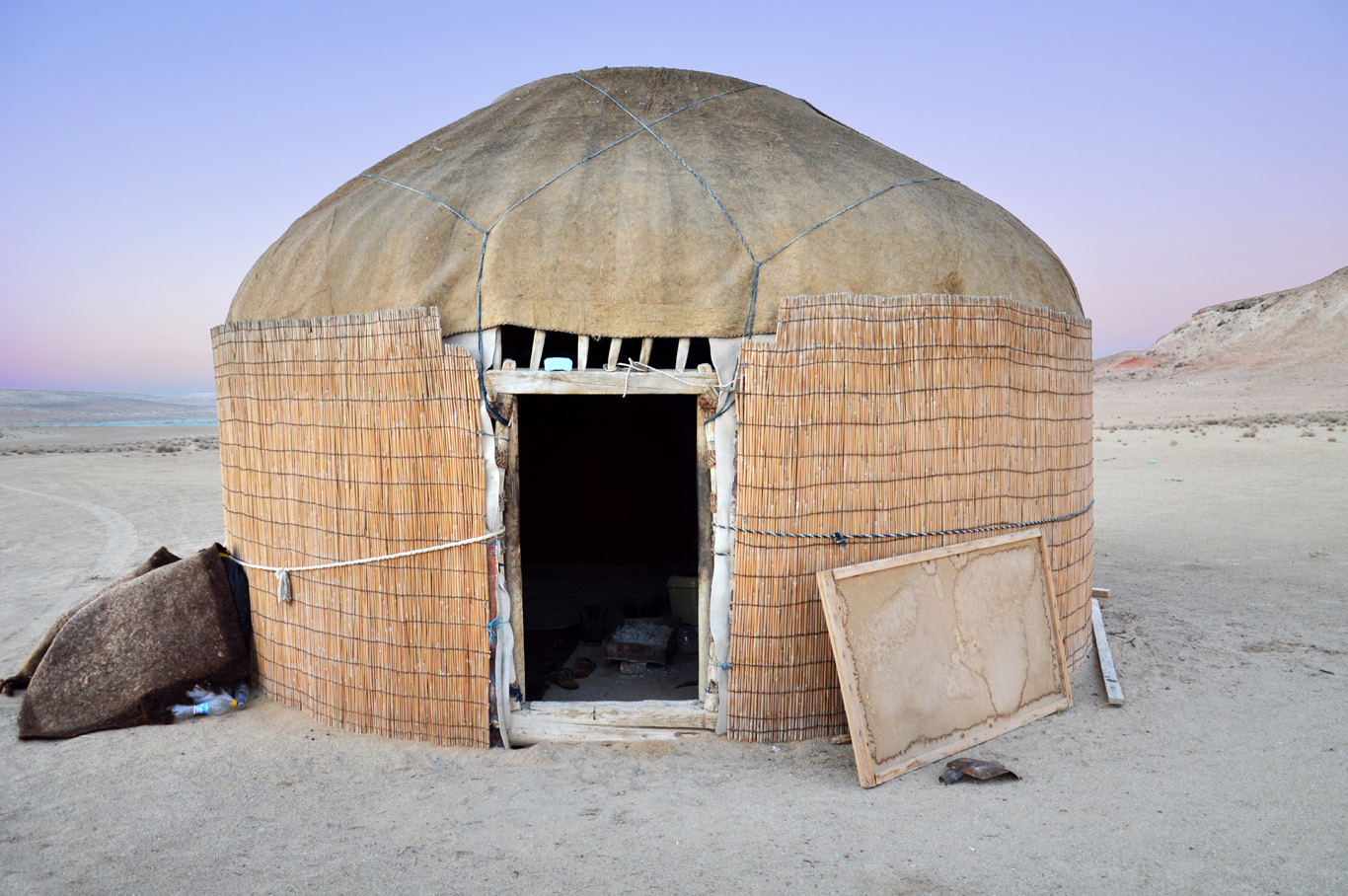 A nomadic hut - perfect place for dinner