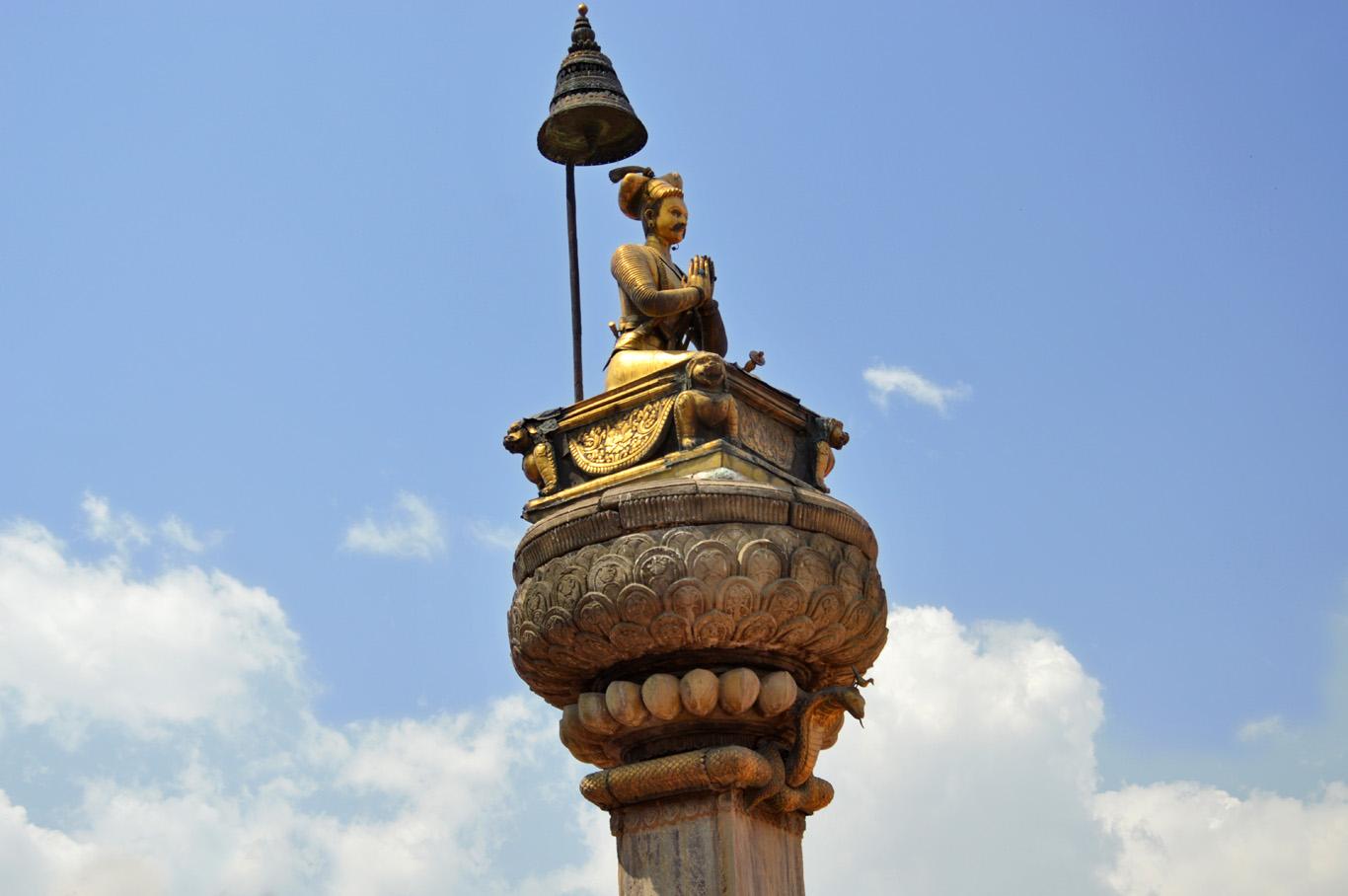 A statue of a Hundu God, Bhaktapur Durbar Square