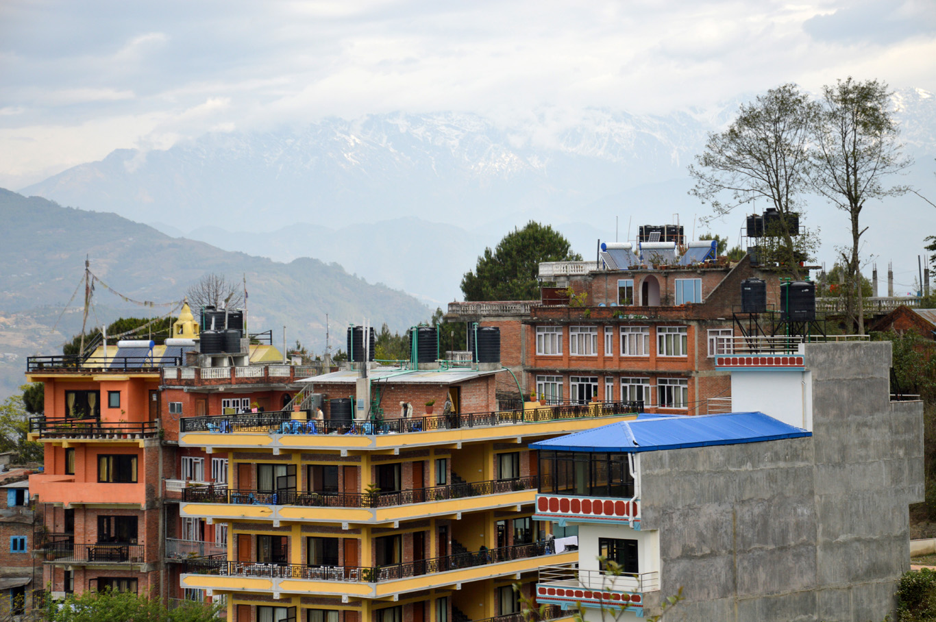 The hotels in the center of Nagarkot