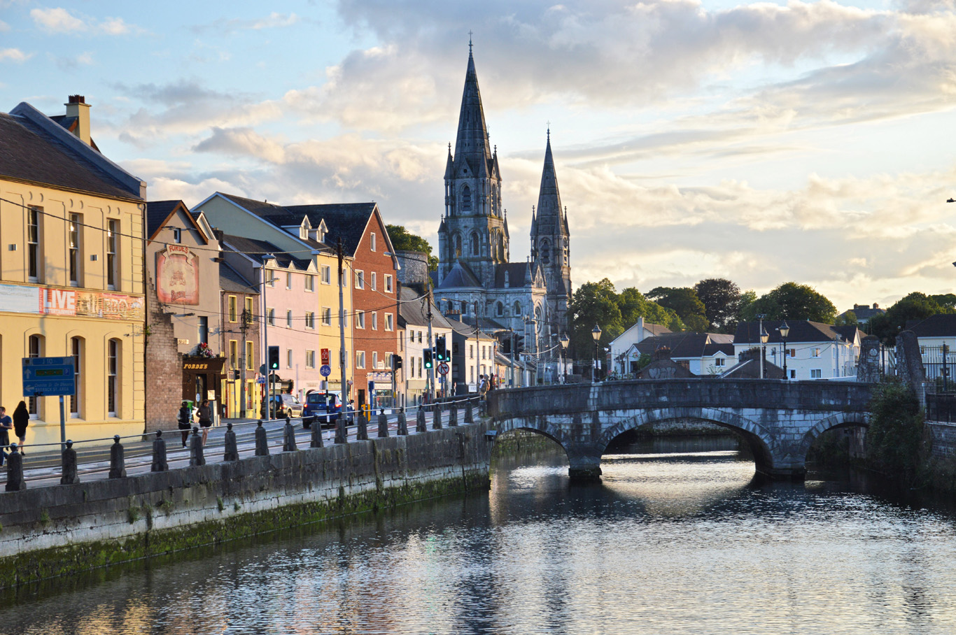 Cork - River Lee and St. Finn Bare's Cathedral