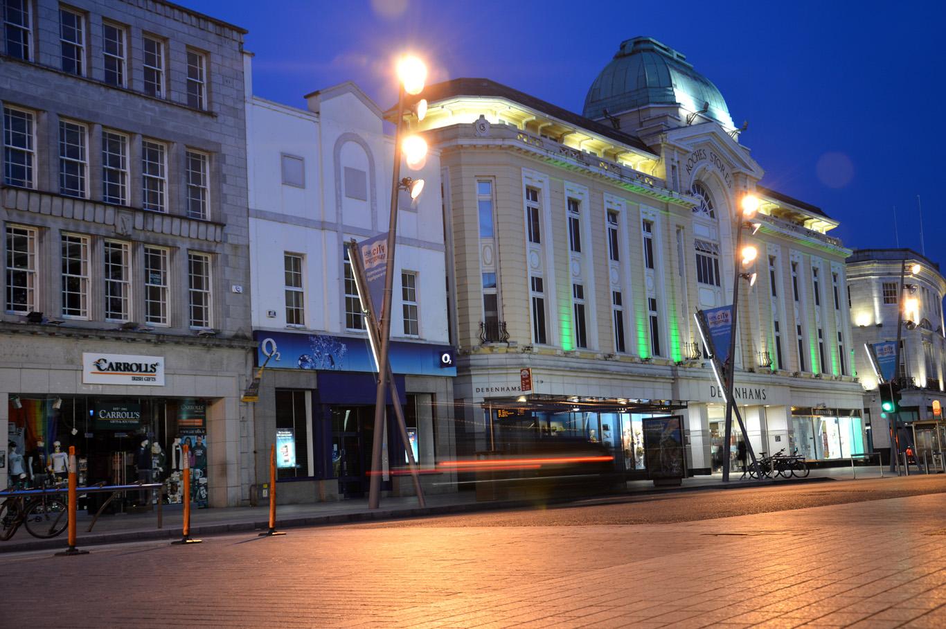 St. Patrick's street at night