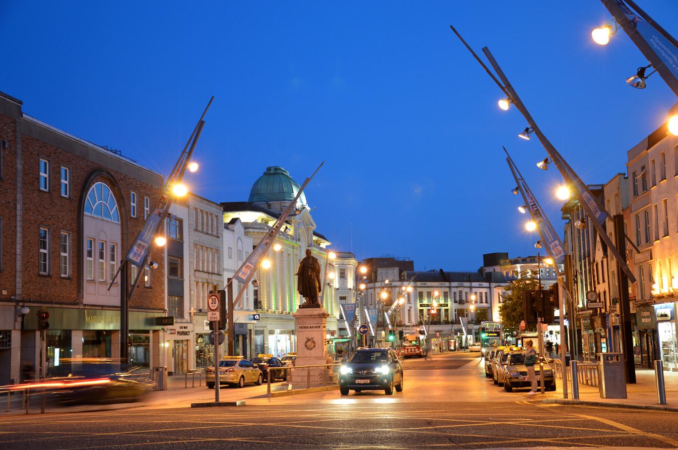 St. Patrick Street's at night