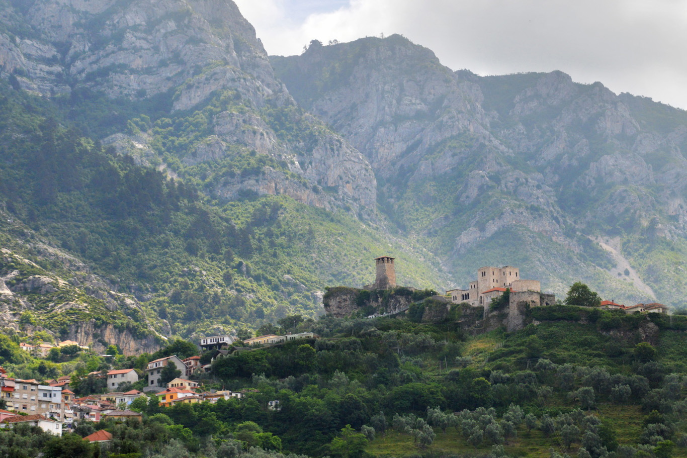 Kruja surrounded by the mountains