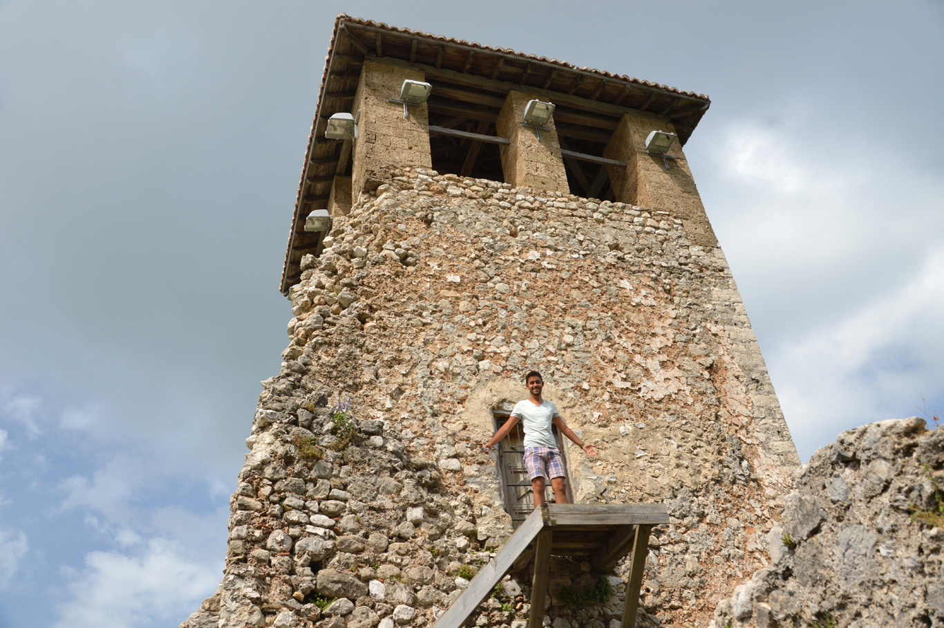 At the medieval tower