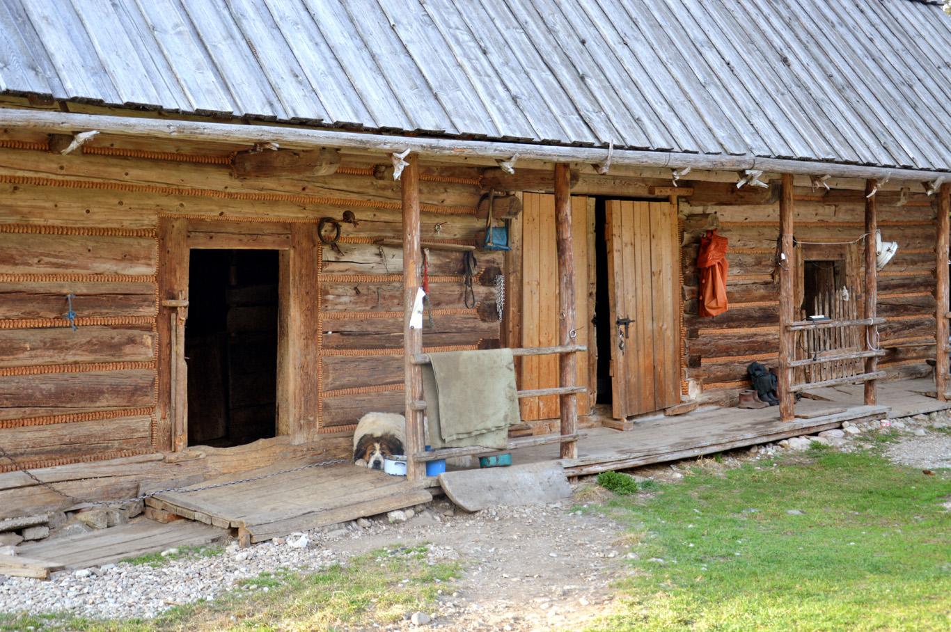 Typical wooden hut in Zakopane