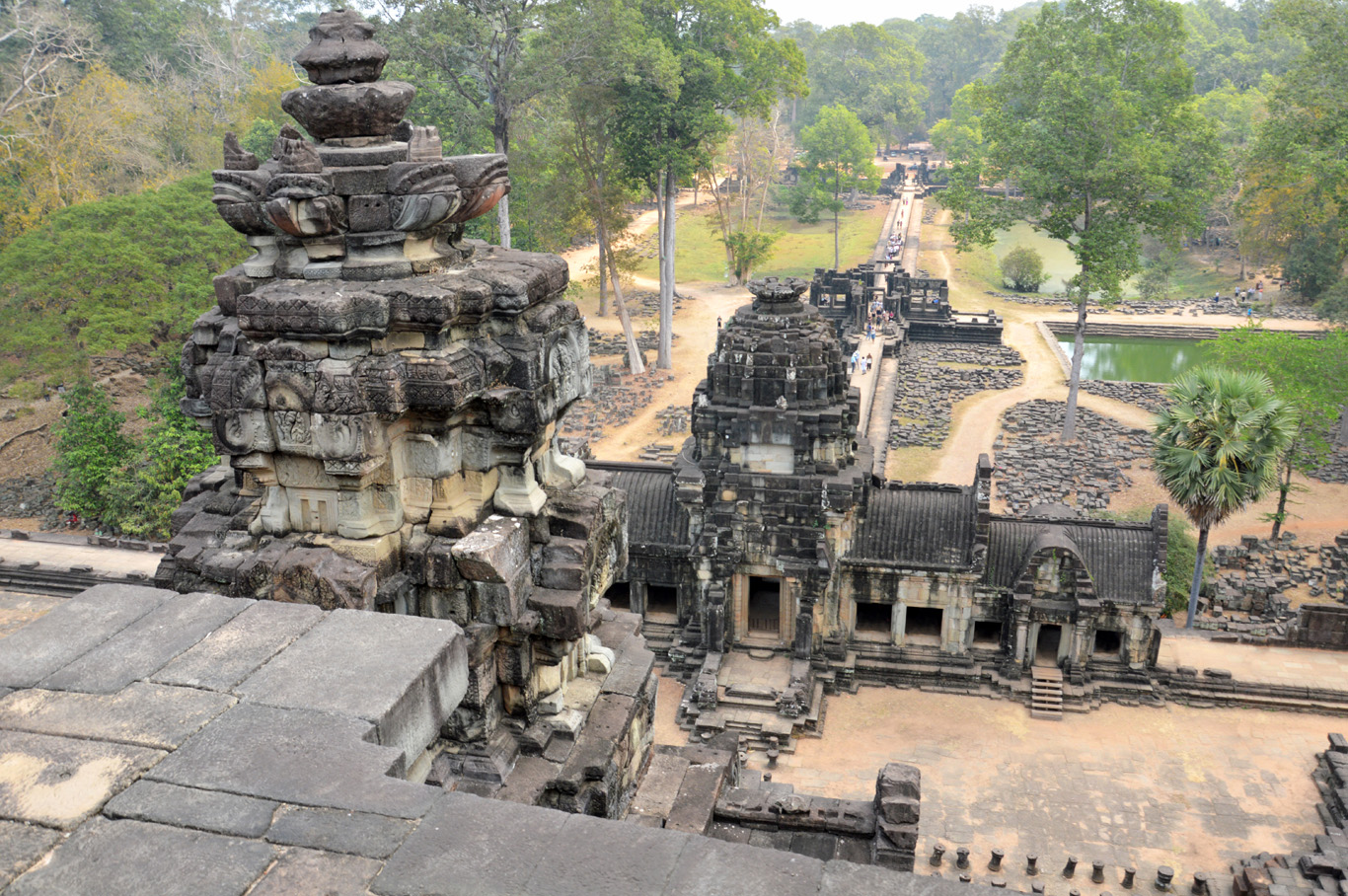 View from the top of Baphoun Temple
