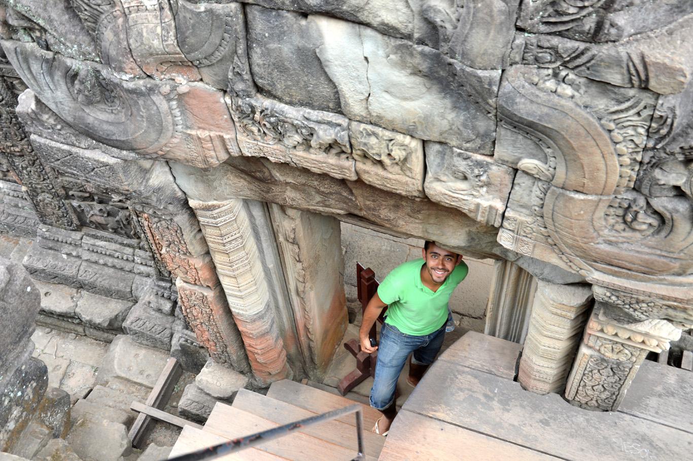 Entering the Baphoun Temple