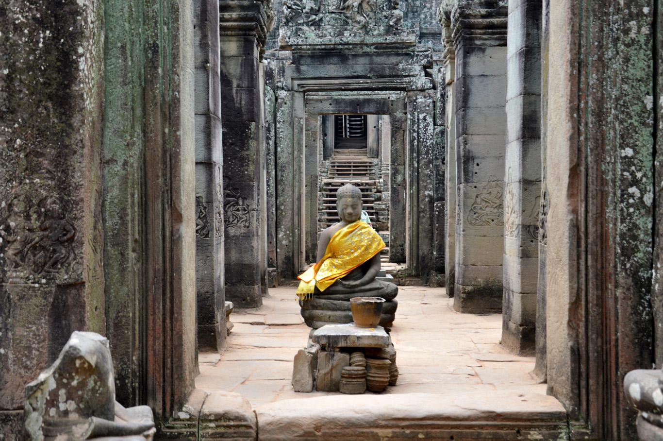 Buddha statue at Bayon