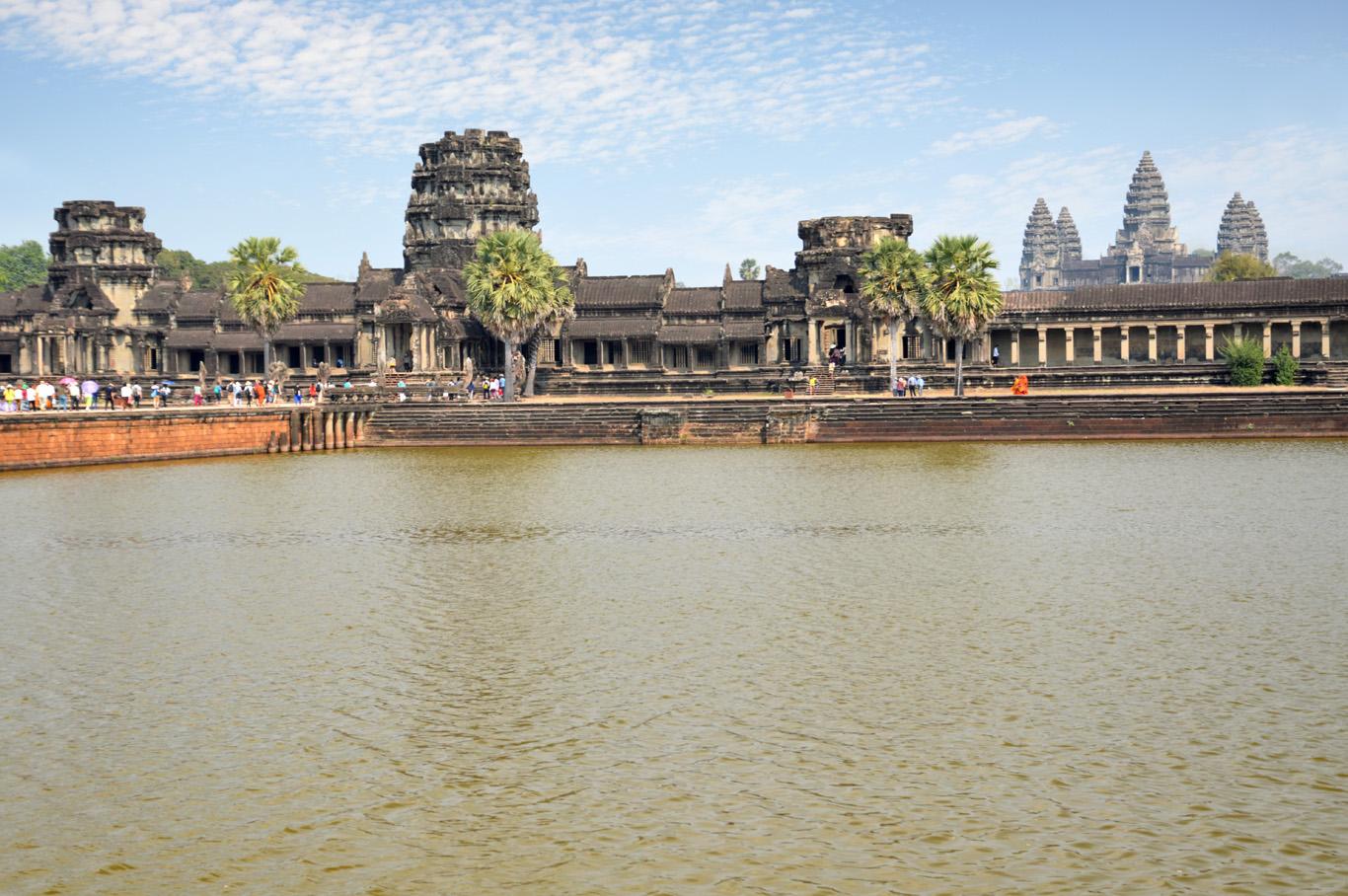 Angkor Wat and Siem Reap river