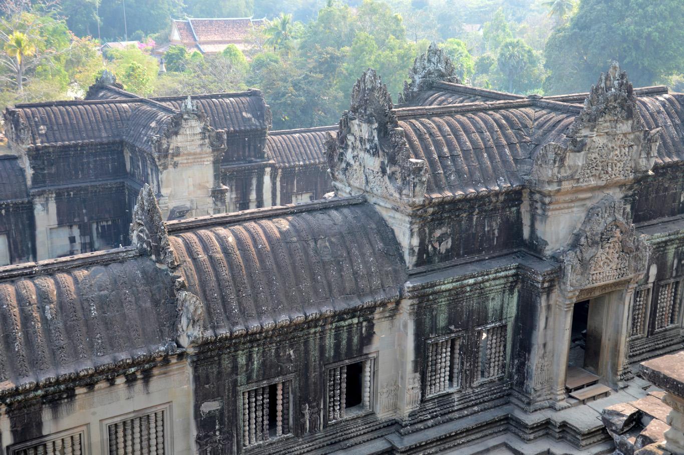 At the top of Angkor Wat