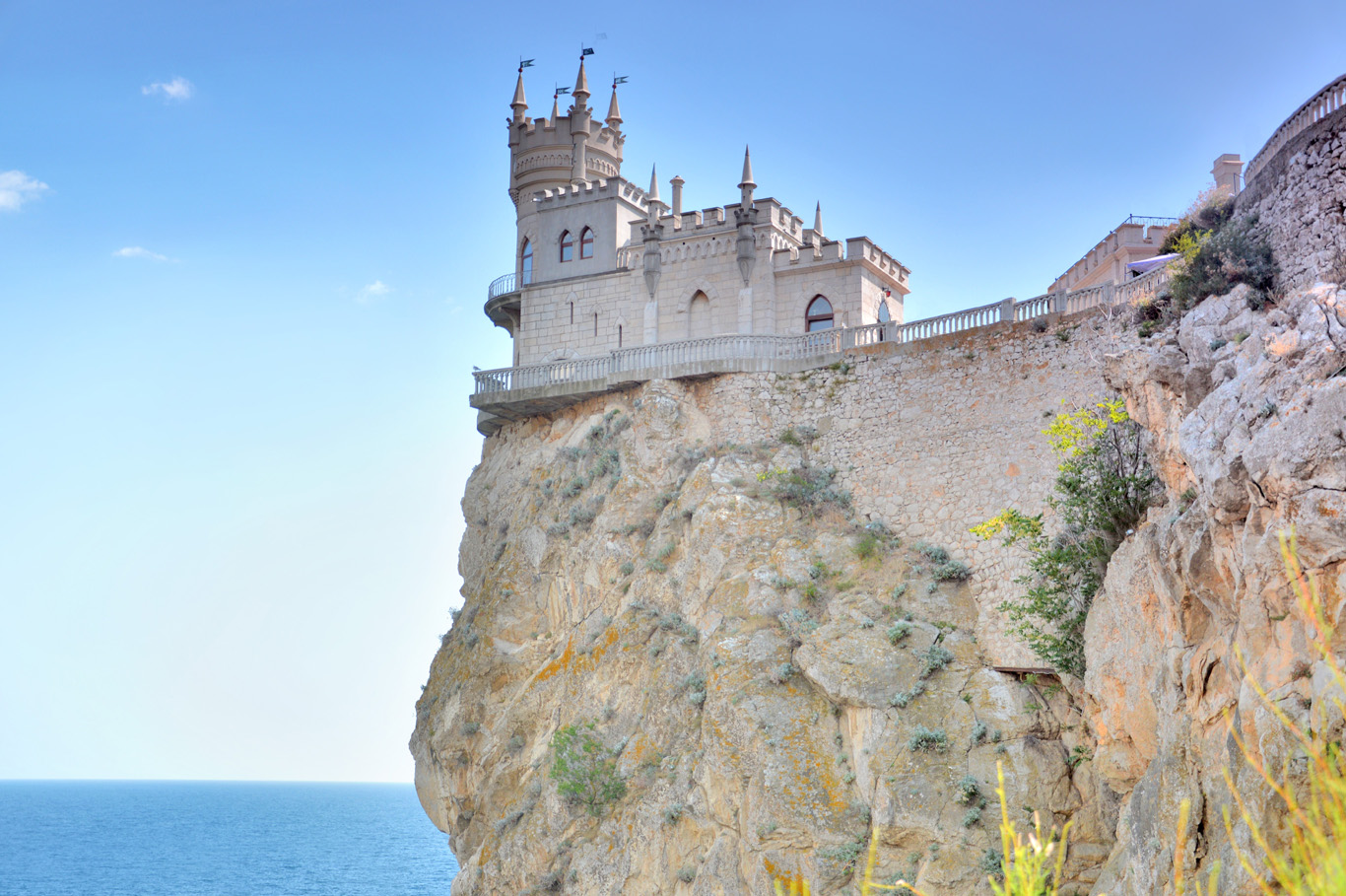Swallow's Nest perched on the cliff
