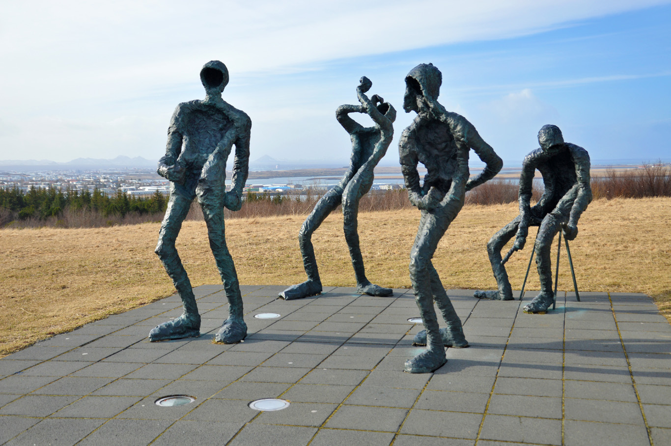 Statues in front of Perlan