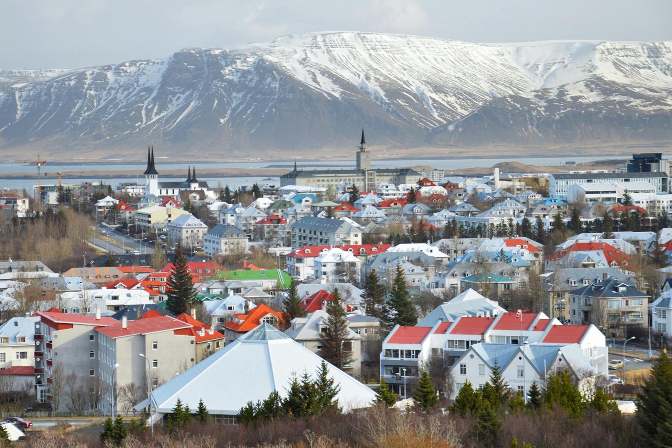 Reykjavik from the dome - viewing platform of Perlan