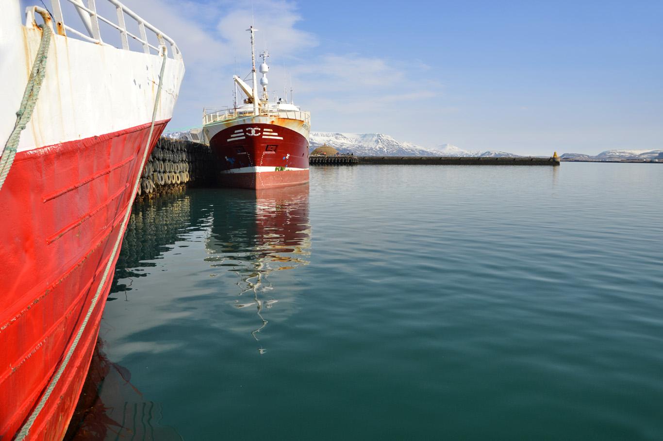 Boats at Reykjavik Harbor