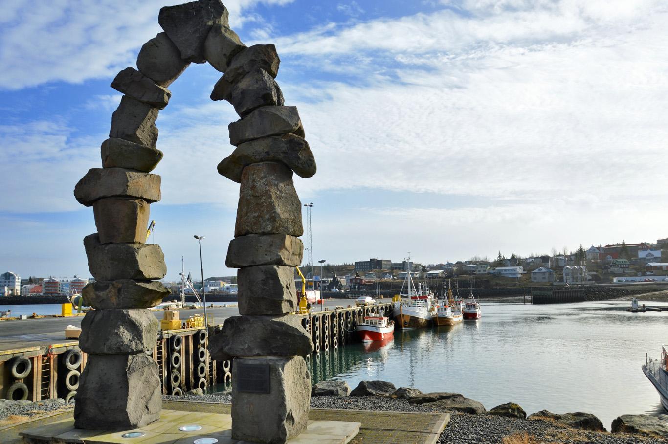 Hafnarfjörður fishing town