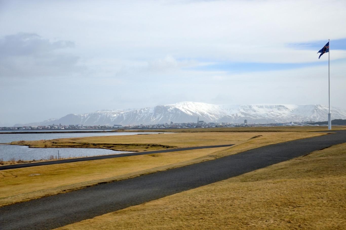 Reykjavik seen from Bessastaðir