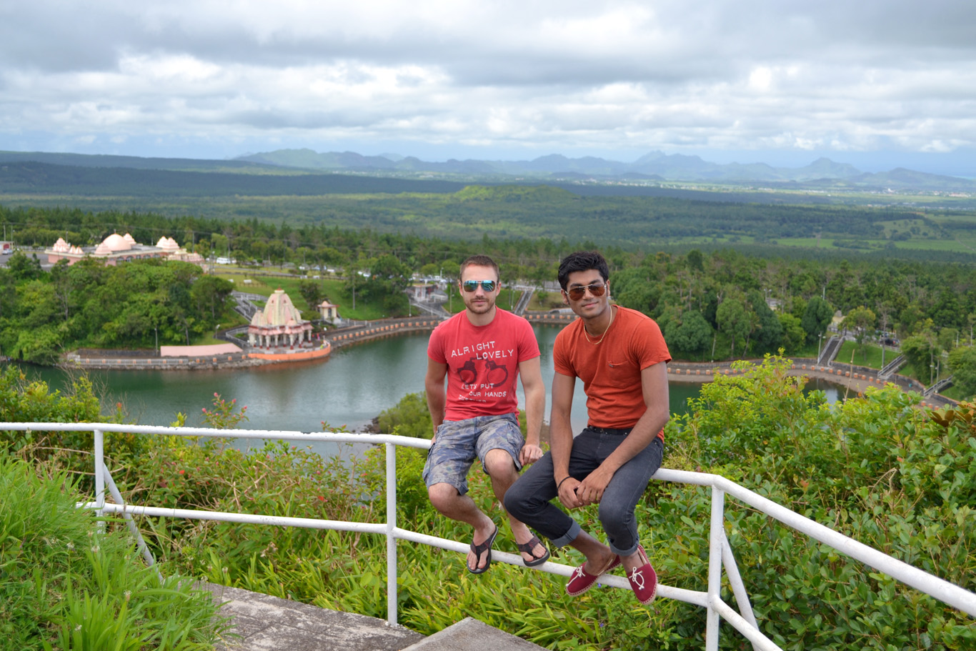 Admiring the views over Ganga Talao
