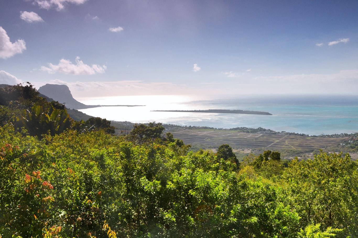Beautiful coast of Mauritius