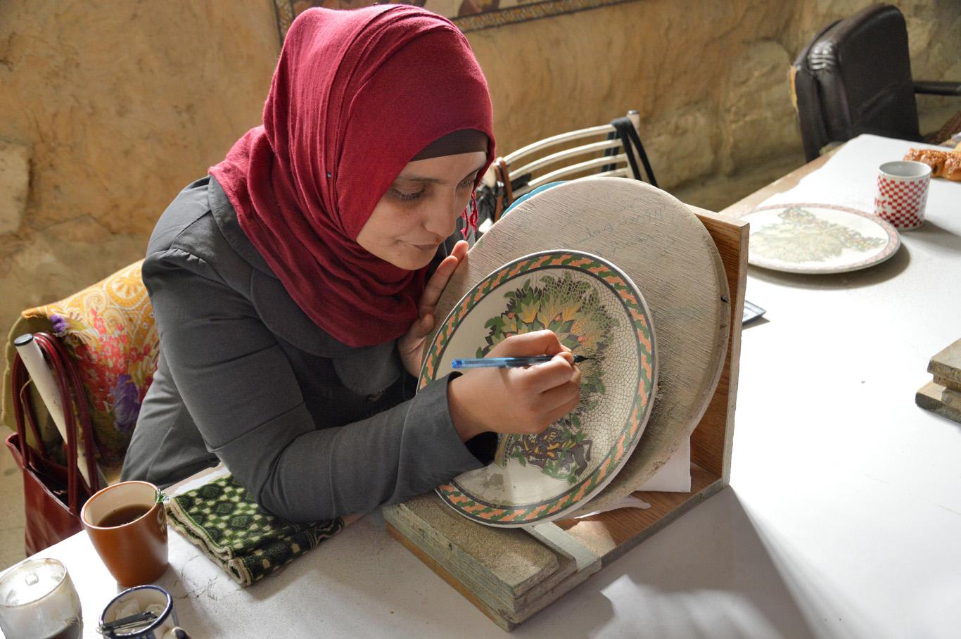 Crafts work in Madaba