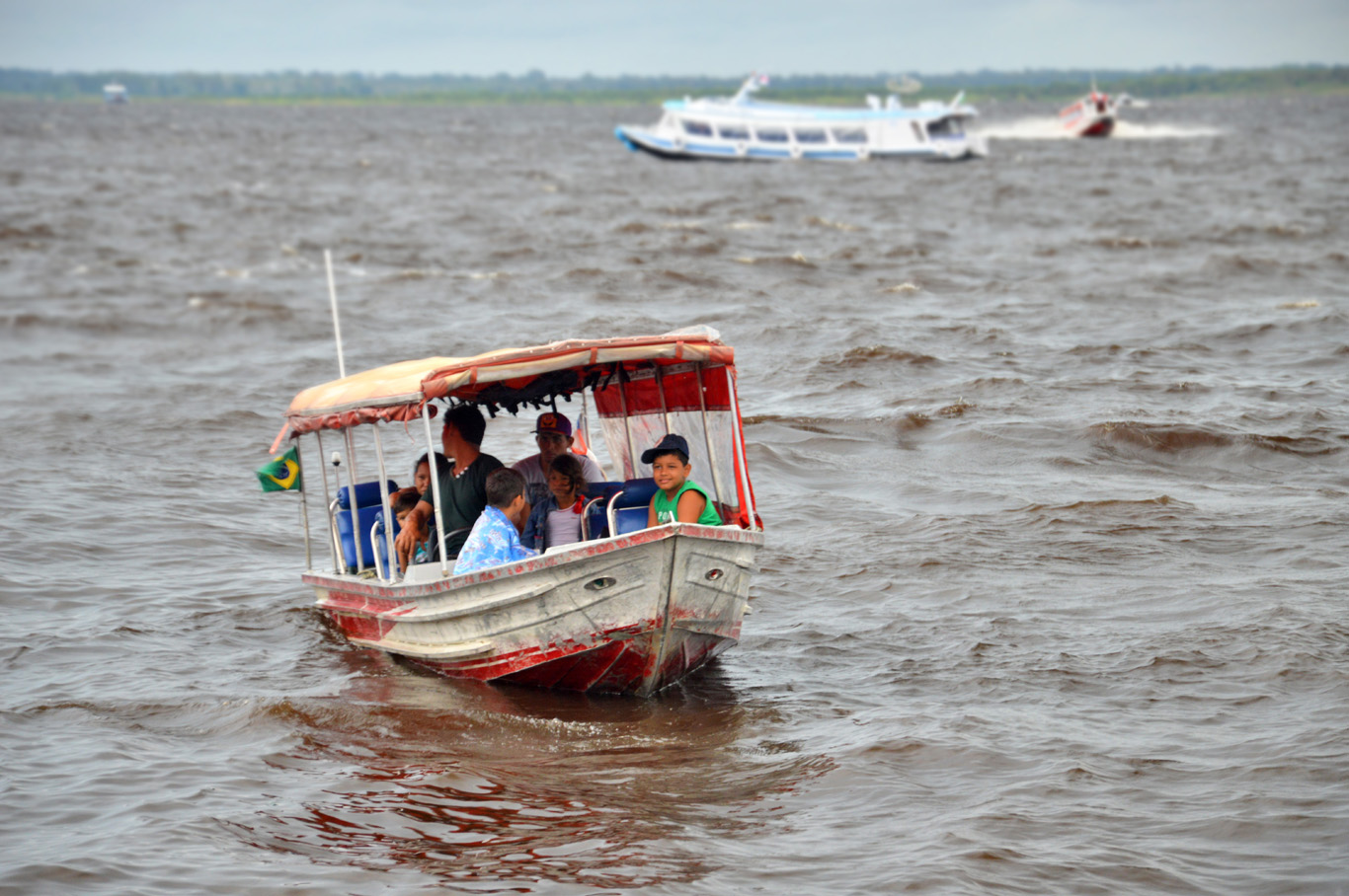 Local boat on River Negro
