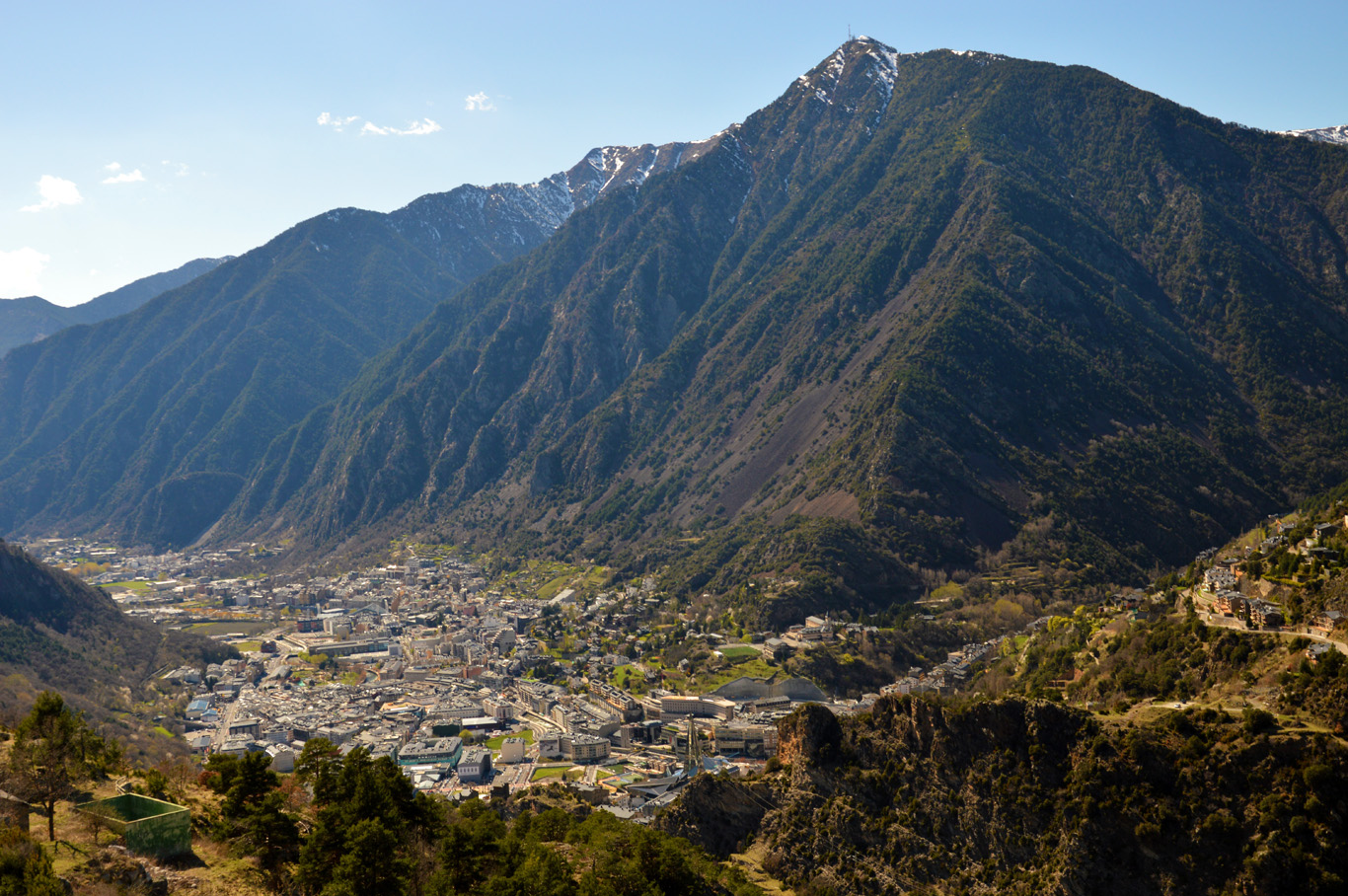 Andorra la Vella - view from the road to Engolasters Lake