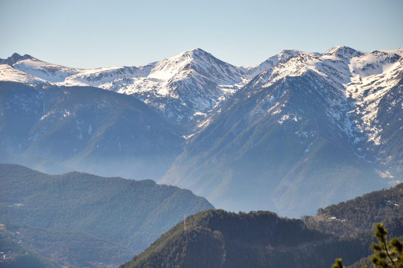 Snowy peaks of the Pyrenees