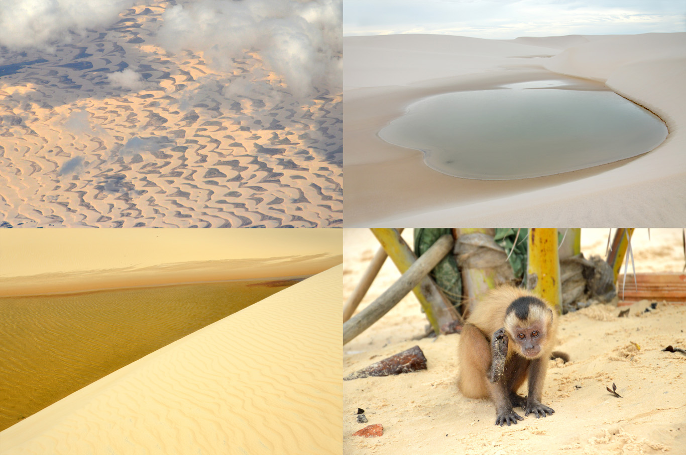 Lencois Maranhenses - first photo: the view from an airplane