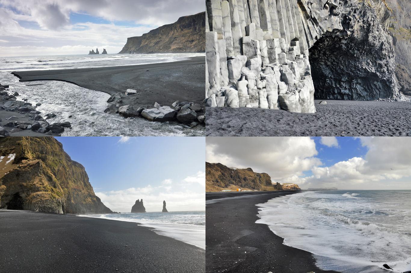 Black beaches in Iceland