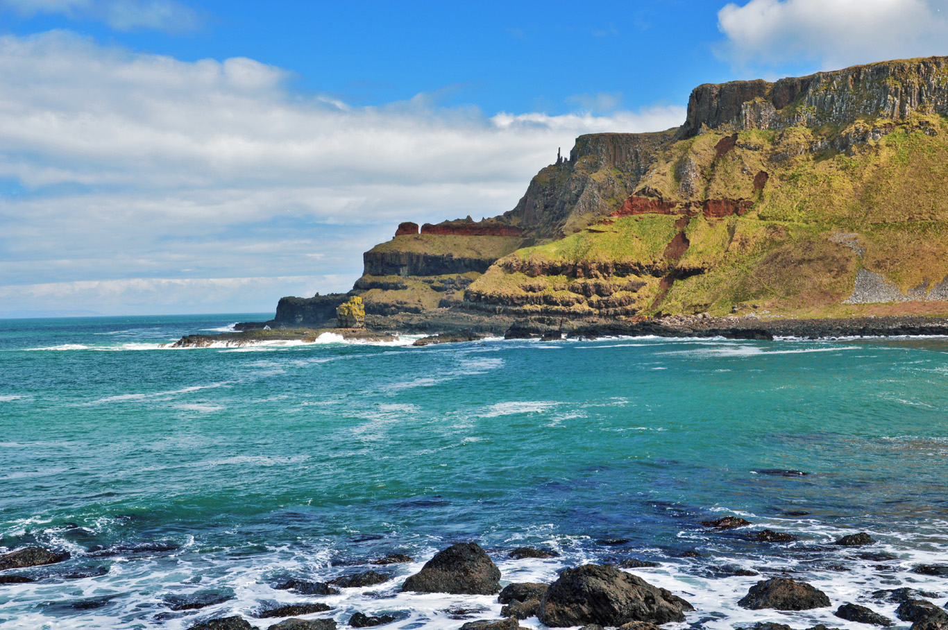 The cliffs around