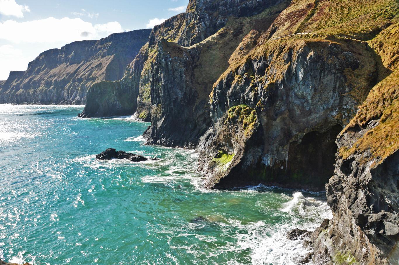 Coast around Carrick-a-Rede