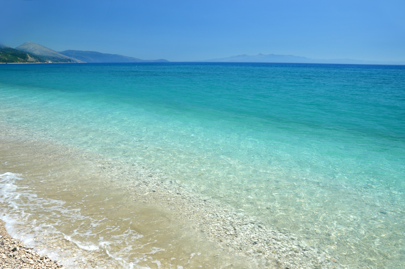 Crystal clear sea in Borsh