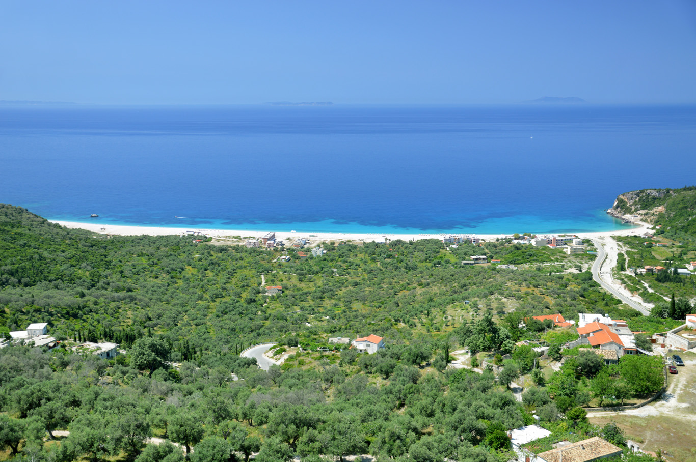 Livadh beach - view from Himare old town