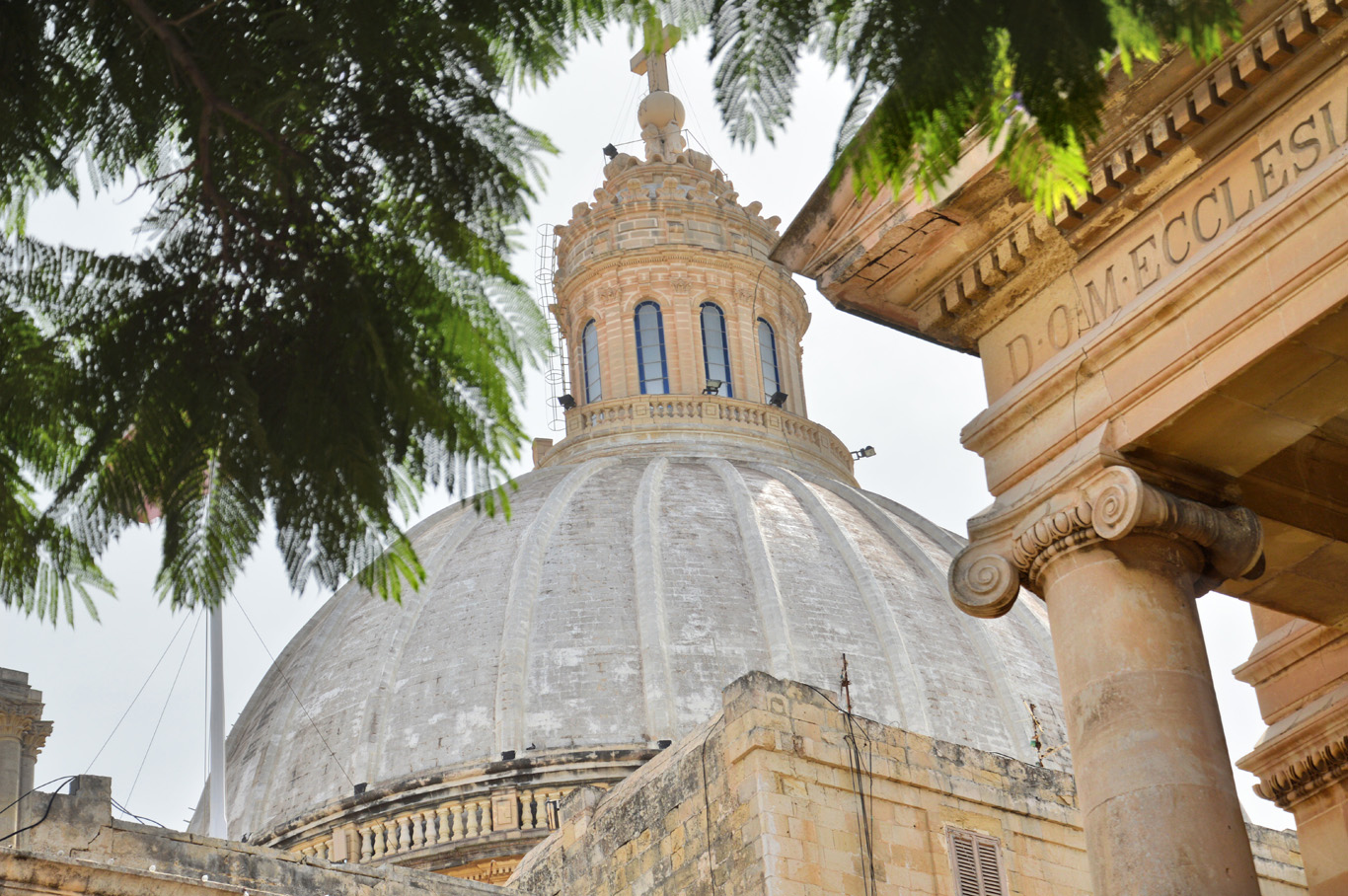 The dome of Basilica of Our Lady of Mount Carmel