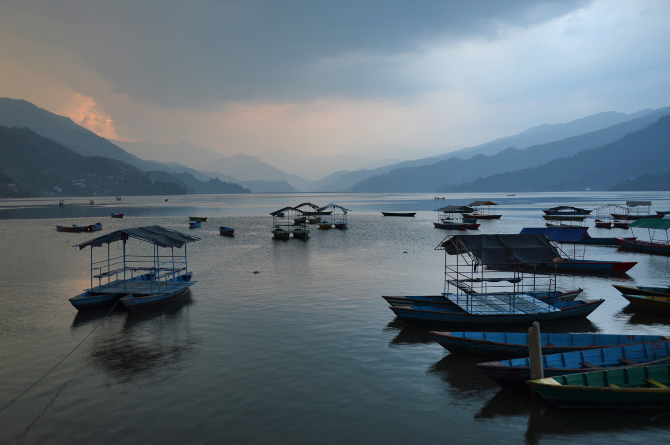 Phewa Lake - right before the storm