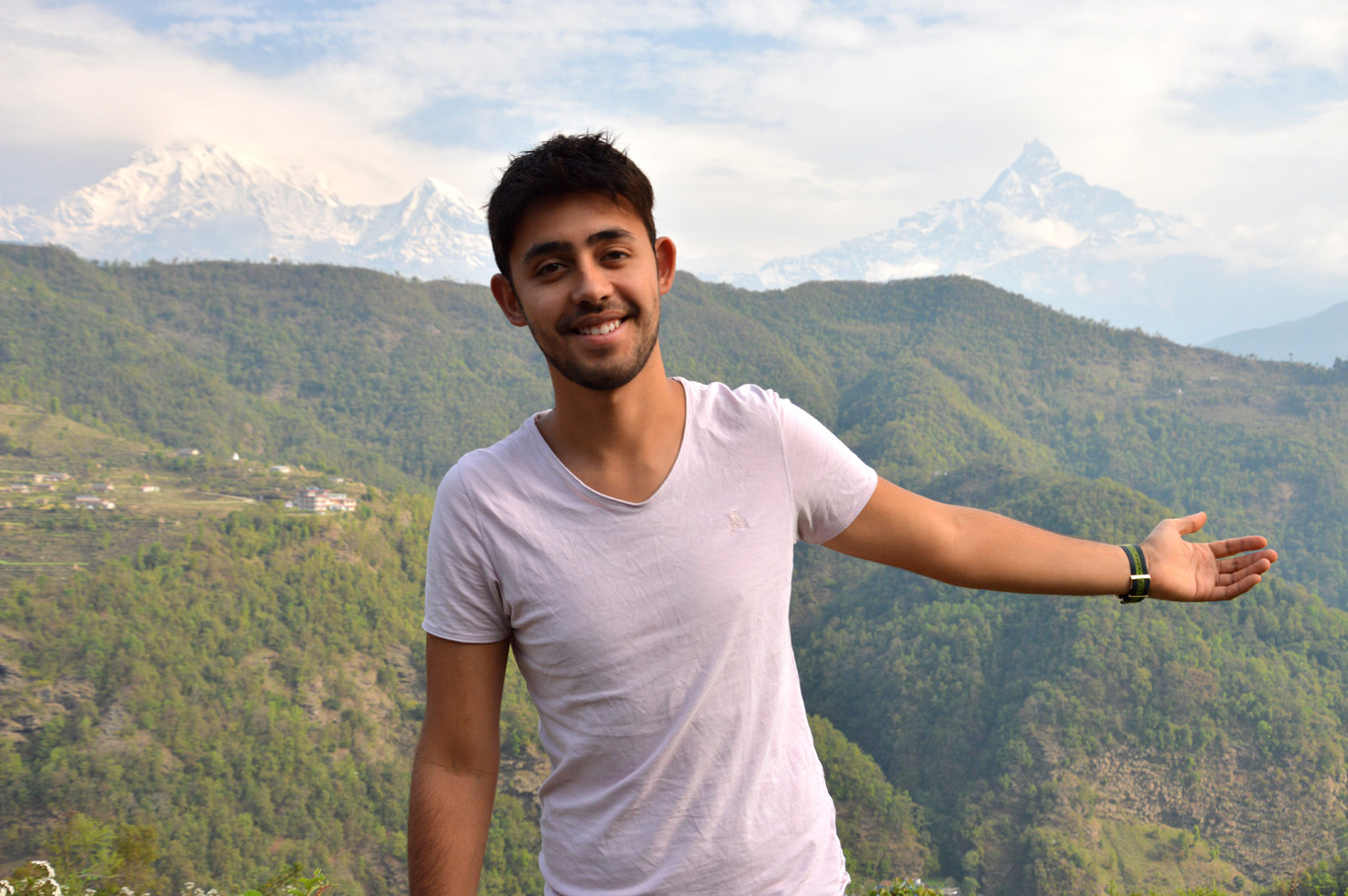 View over the Annapurna Mountain Range