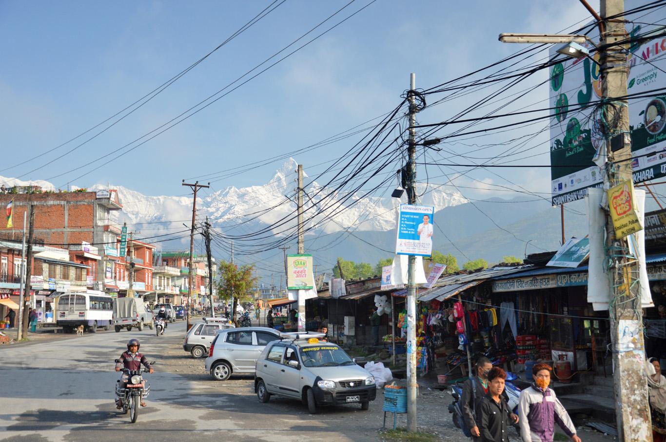 Pokhara outside the tourist zone