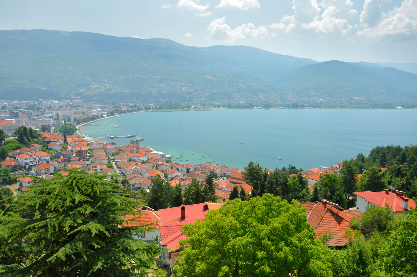 Ohrid - view from the defensive walls