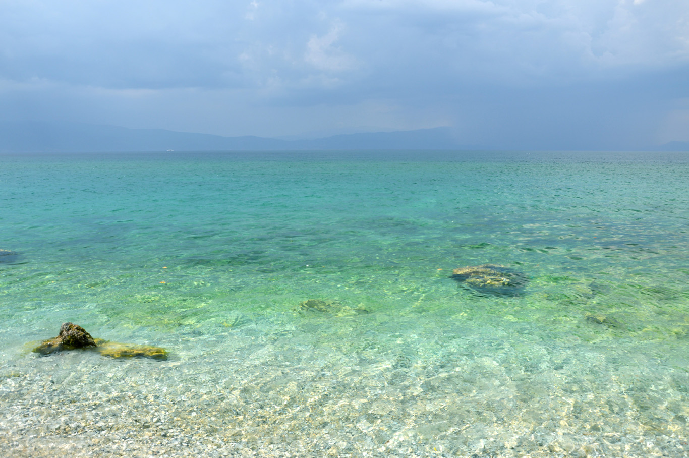 Trpjeca - clear water and Albanian shore in the distance
