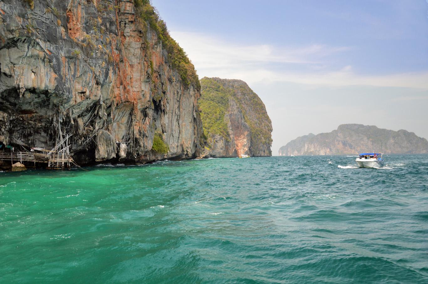 The cliffs at Ko Phi Phi