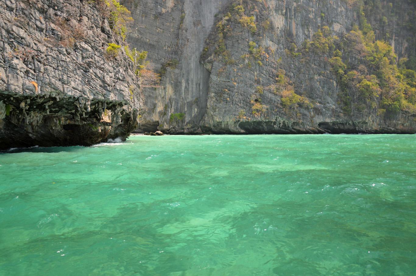 Limestone rocks and turquoise sea