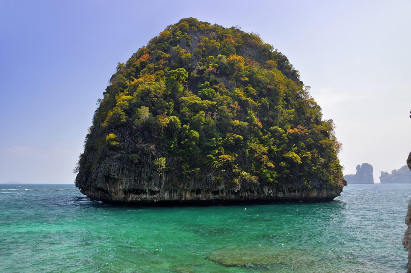 Rock at Maya Bay