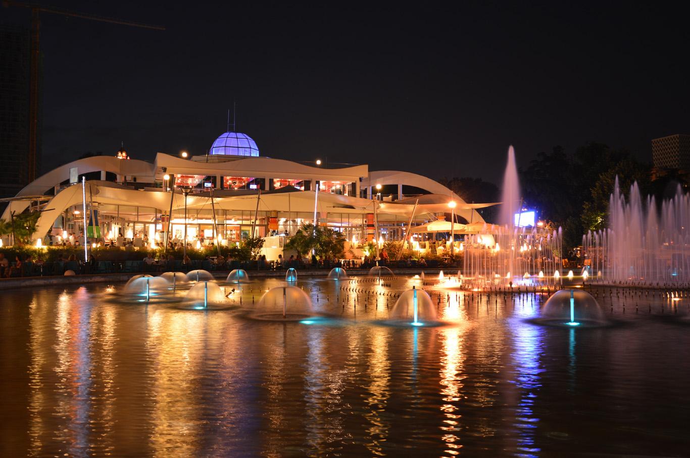 Rinia Park at night