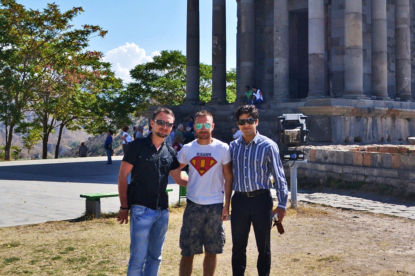 At Garni Temple with friends