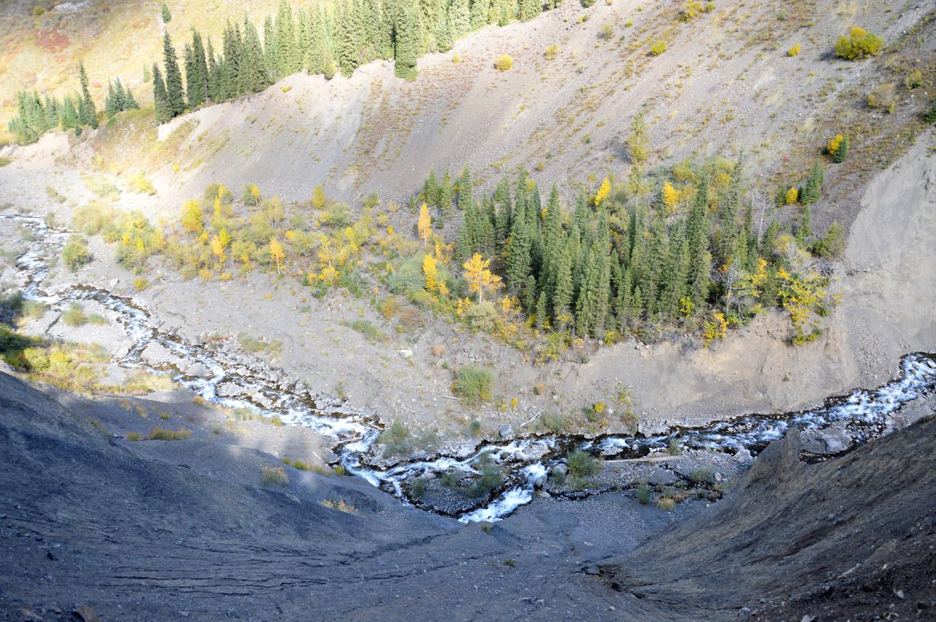 River Kaindy gorge